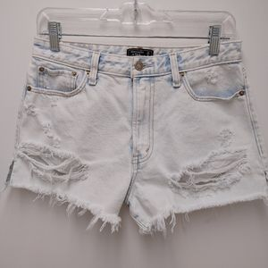Abercrombie & Fitch Annie High Rise Shorts Size 28